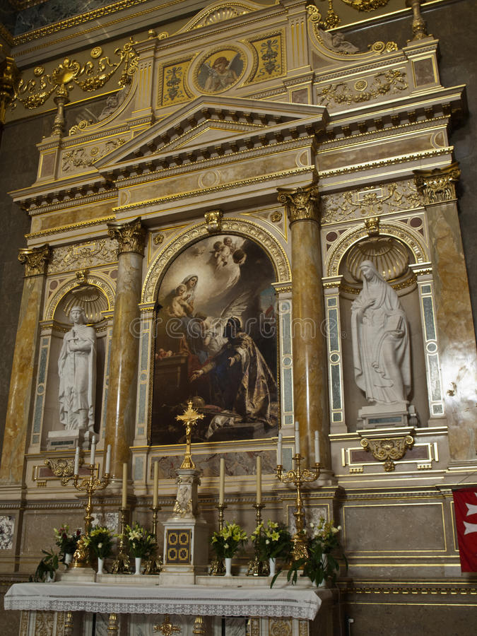 Basilica of St Stephen - altar stock images