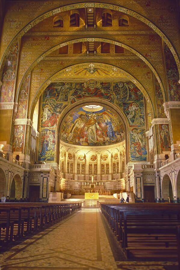 Basilica of St Theresa Lisieux France stock image