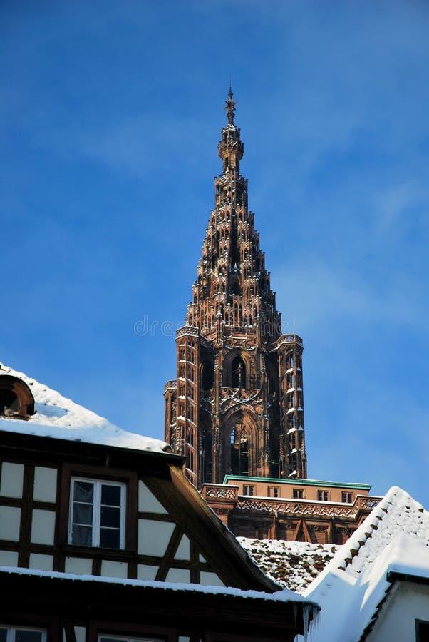 Basilica of Strasbourg during winter