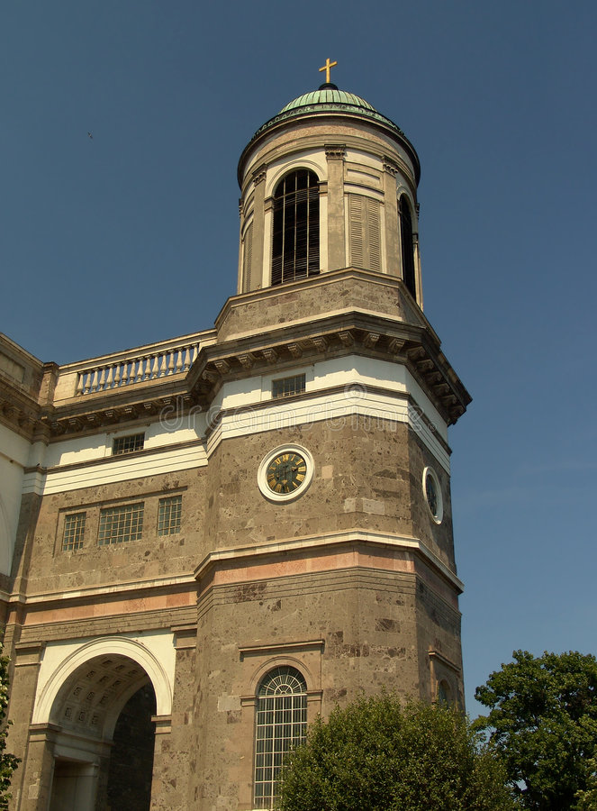 Basilica tower cupola in Esztergom. (Hungary stock image