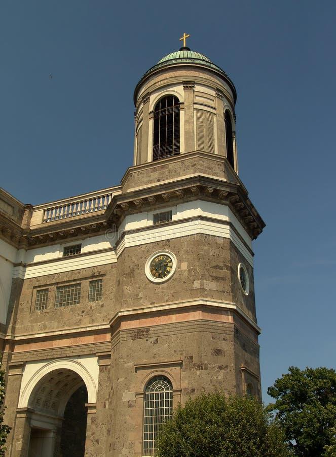 Basilica tower cupola in Esztergom stock image