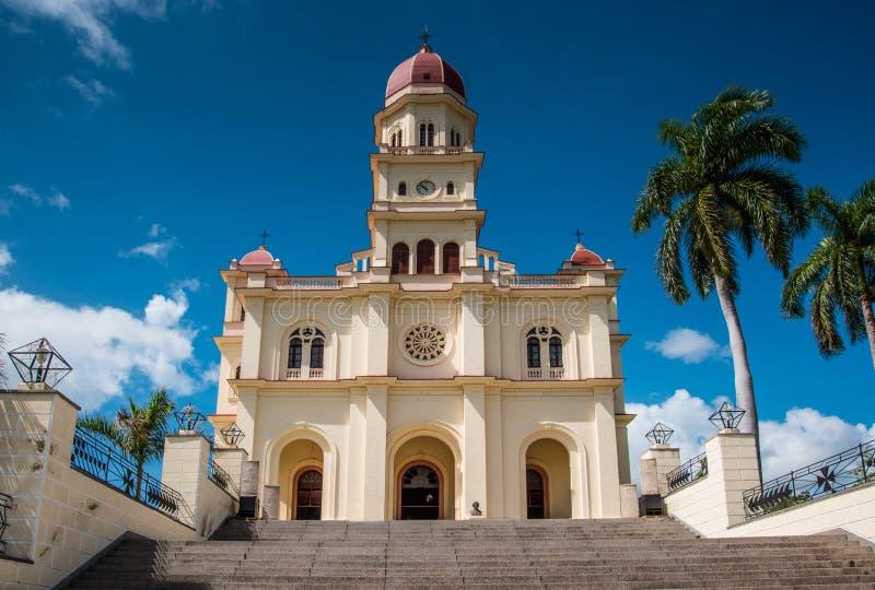 Basilica of Virgin el Cobre in Santiago de Cuba, Cuba royalty free stock image