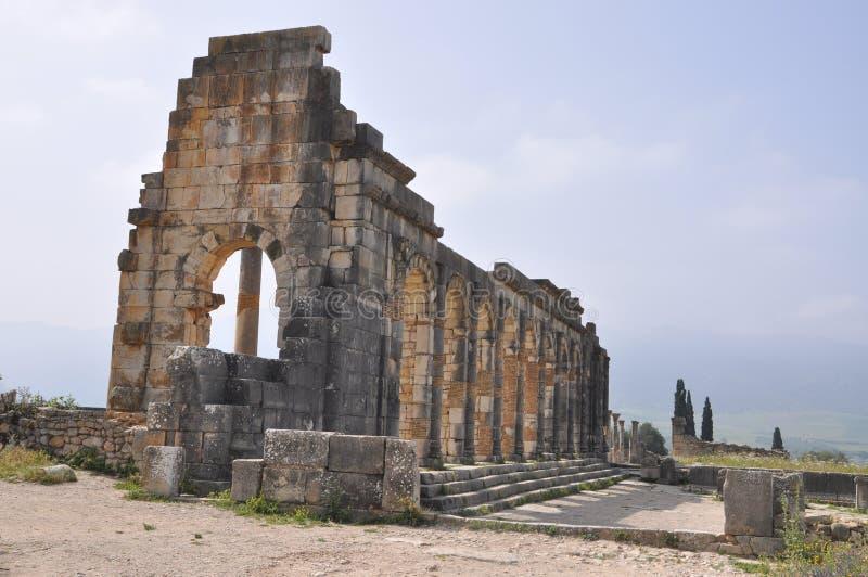 Basilica at Volubilis, Meknes Morocco stock photography
