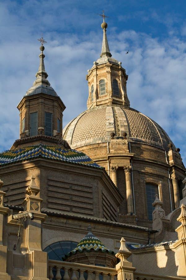 Basilica in Zaragoza, Spain royalty free stock images