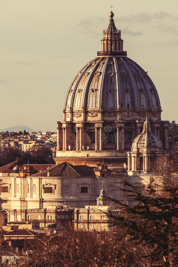 basilicapeter rome saint italy royaltyfri bild