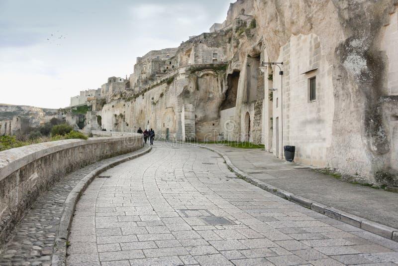 basilicata matera sassisikt royaltyfri fotografi