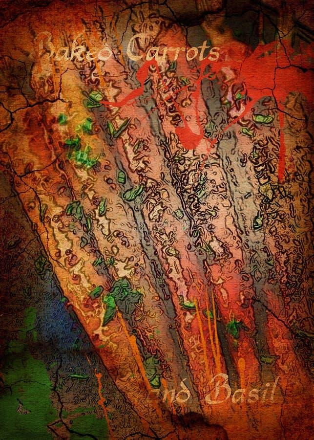 Basilico al forno delle carote fotografie stock