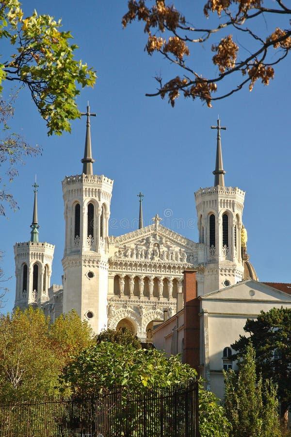 Basiliek Fourviere van het park royalty-vrije stock afbeelding
