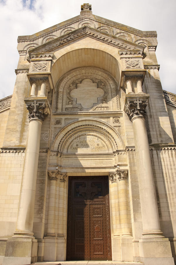 Basiliek Heilige Martin de Tours reizen frankrijk stock foto