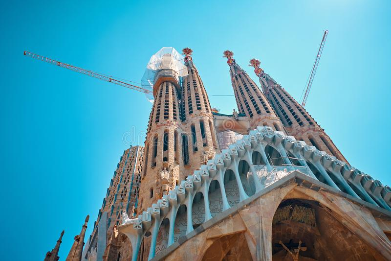 Basiliek i La Sagrada Familia van Tempelexpiatori DE royalty-vrije stock fotografie