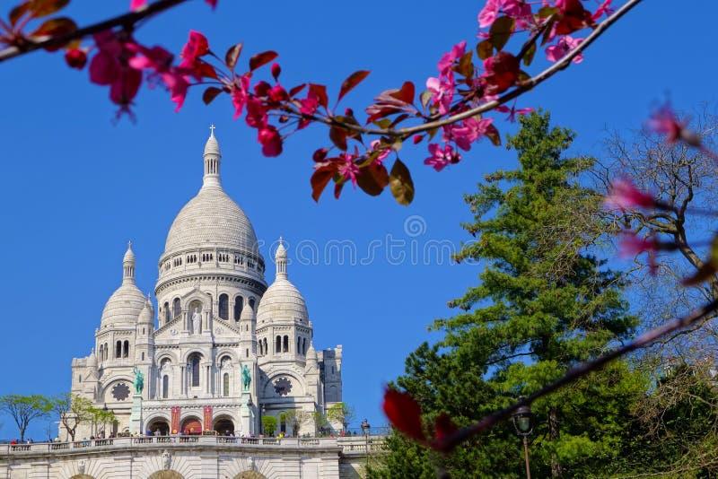 Basiliek sacre-Coeur in Parijs stock foto's