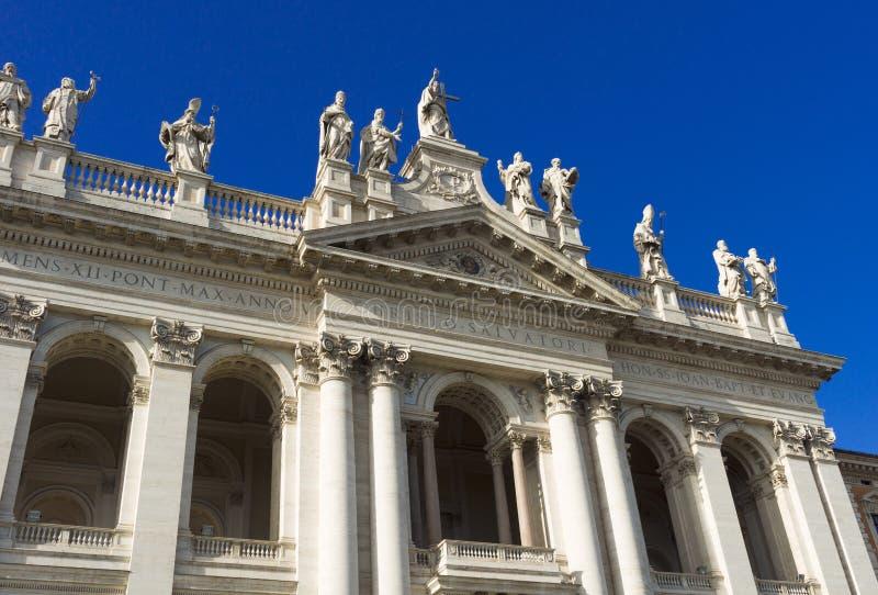 Basiliek San Giovanni in Laterano in Rome stock afbeeldingen
