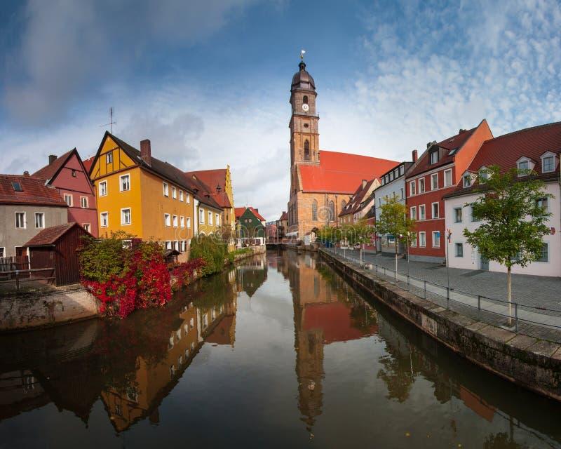 Basiliek St Martin, Amberg, Duitsland royalty-vrije stock fotografie