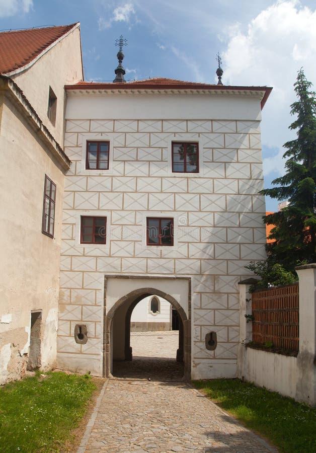Basiliek St Procopius in Trebic-klooster Tsjechische Republiek royalty-vrije stock fotografie