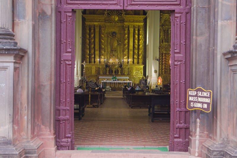 Basiliek van Bom Jesus, Goa stock foto's
