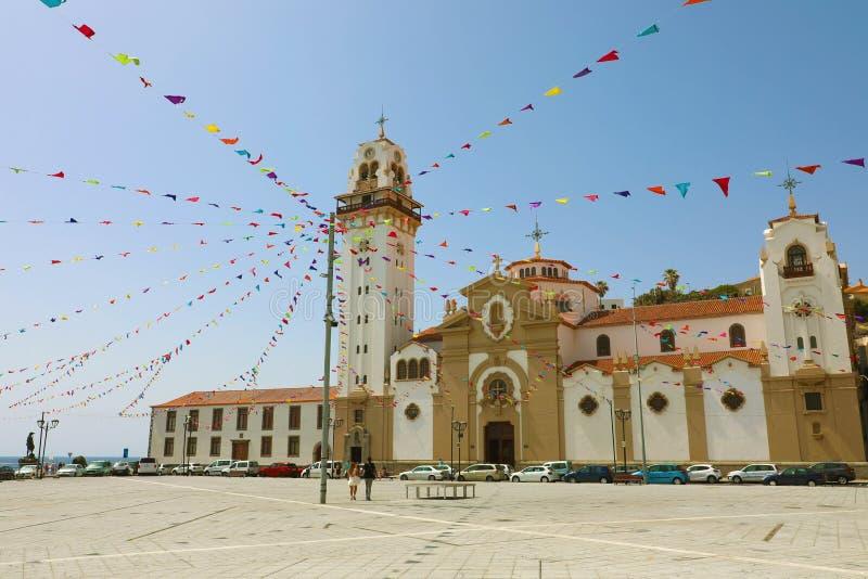 Basiliek van Candelaria, Santa Cruz de Tenerife, Canarische Eilanden, Spanje royalty-vrije stock afbeeldingen