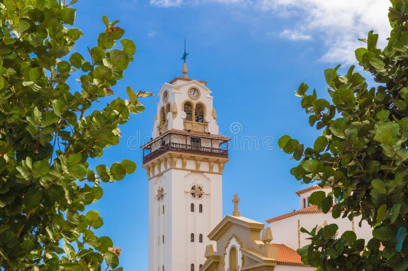 Basiliek van Candelaria, Tenerife eiland stock fotografie