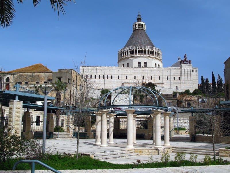 Basiliek van de Aankondiging, Nazareth, Israël stock afbeeldingen