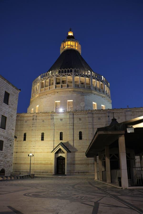 Basiliek van de Aankondiging in Nazareth, Isra?l stock afbeeldingen