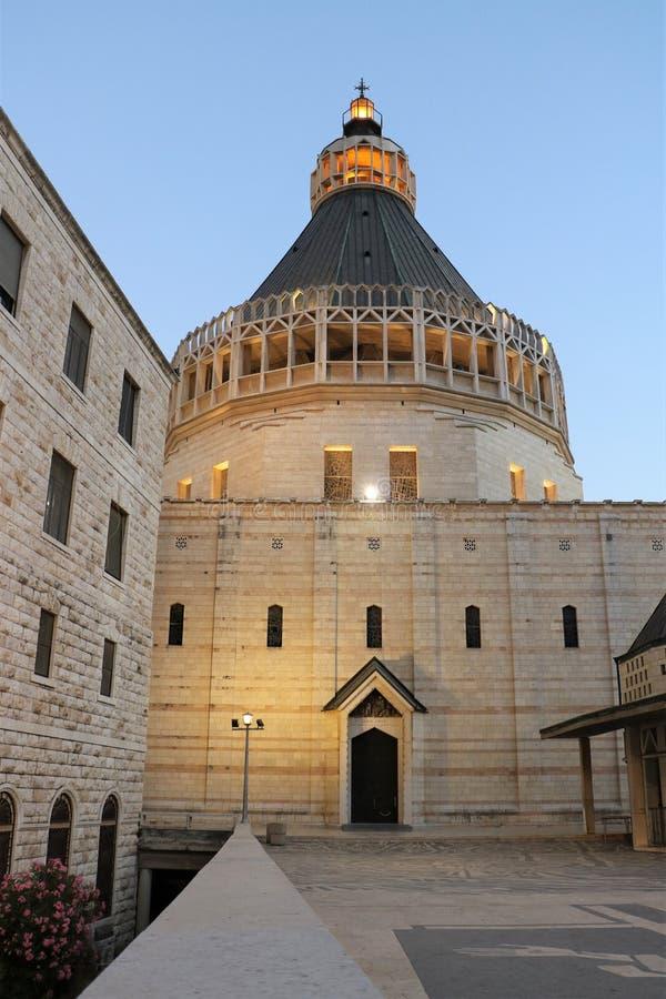 Basiliek van de Aankondiging in Nazareth, Isra?l royalty-vrije stock foto's