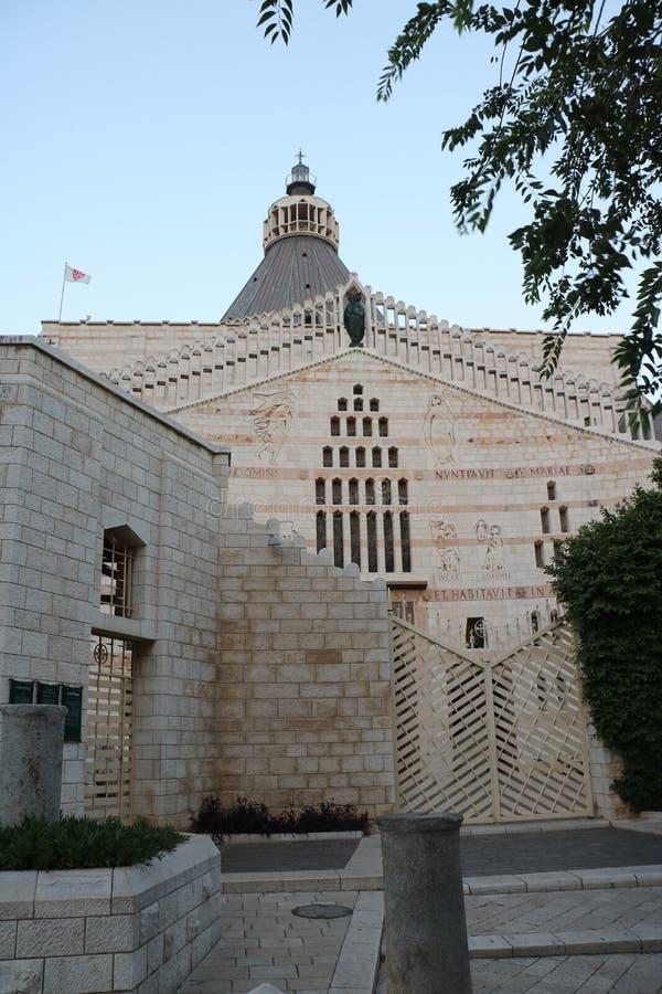 Basiliek van de Aankondiging in Nazareth, Isra?l royalty-vrije stock afbeelding