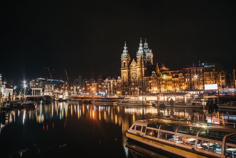 Basiliek van DE Heilige Nicolaas in Amsterdam stock afbeelding