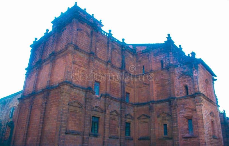 Basiliek van de kerk van Bom Jesus in Goa, India royalty-vrije stock fotografie