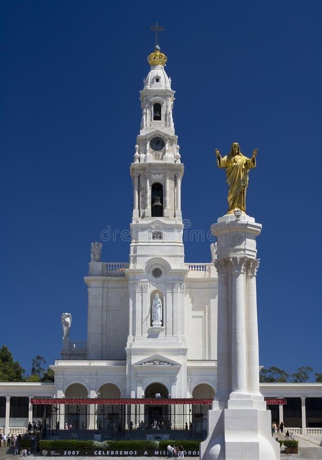 Basiliek van Fatima stock afbeelding
