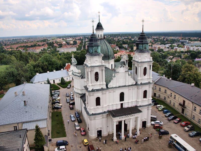 Basiliek van Geboorte van Christus van Maagdelijke Mary, Chelm, Polen stock fotografie