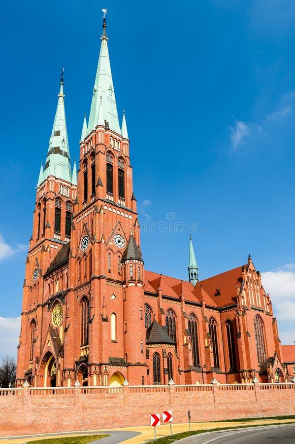 Basiliek van Heilige Antoni in Rybnik, Silesië, Polen stock afbeeldingen