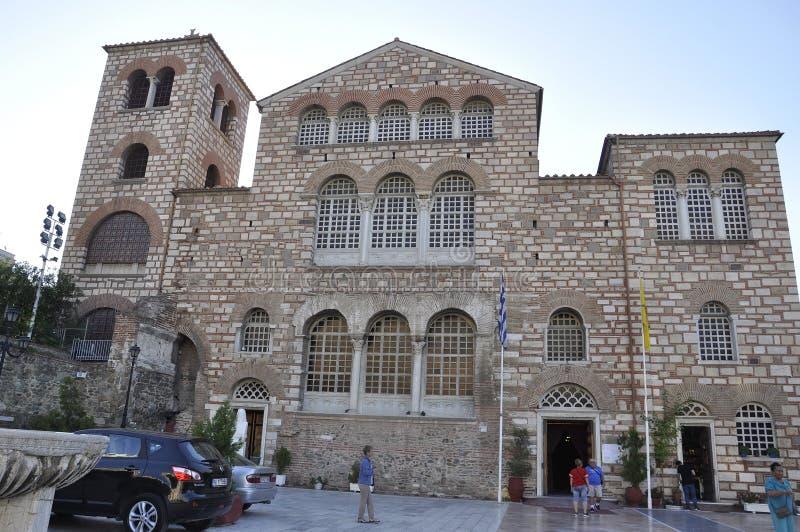Basiliek van Heilige Demetrius of de bouw van Hagios Demetrios van Thessaloniki de Hoofdstad van Macedonië van Griekenland stock afbeeldingen