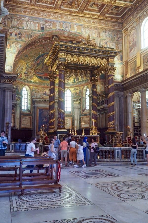 Basiliek van Heilige Mary Major in Rome, Itali? royalty-vrije stock fotografie