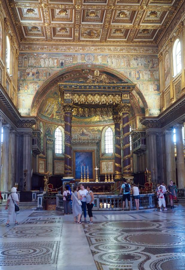Basiliek van Heilige Mary Major in Rome, Itali? royalty-vrije stock foto's