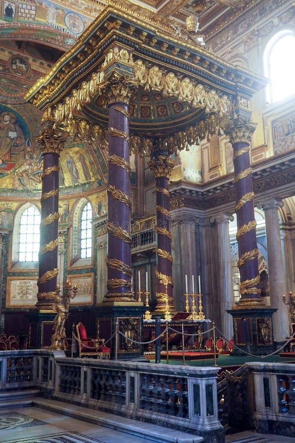 Basiliek van Heilige Mary Major in Rome, Itali? royalty-vrije stock afbeelding