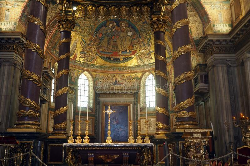 Basiliek van Heilige Mary Major in Rome, Itali? royalty-vrije stock afbeelding