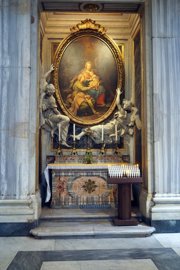 Basiliek van Heilige Mary Major in Rome, Itali? stock foto