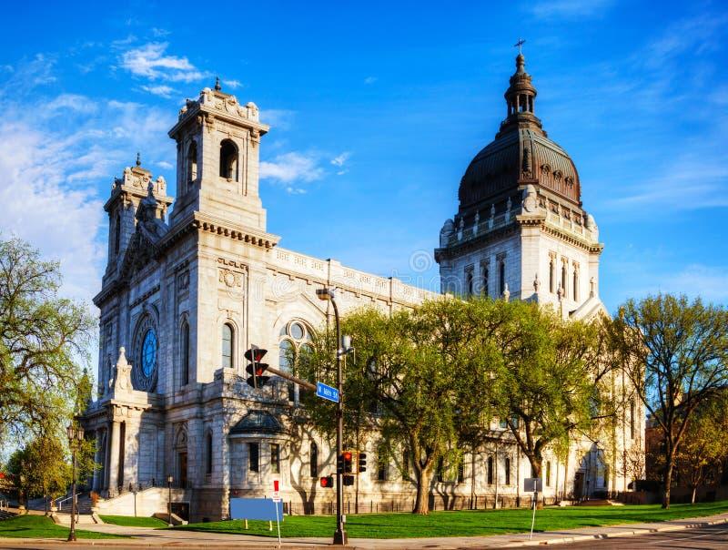 Basiliek van Heilige Mary in Minneapolis, Mn stock foto