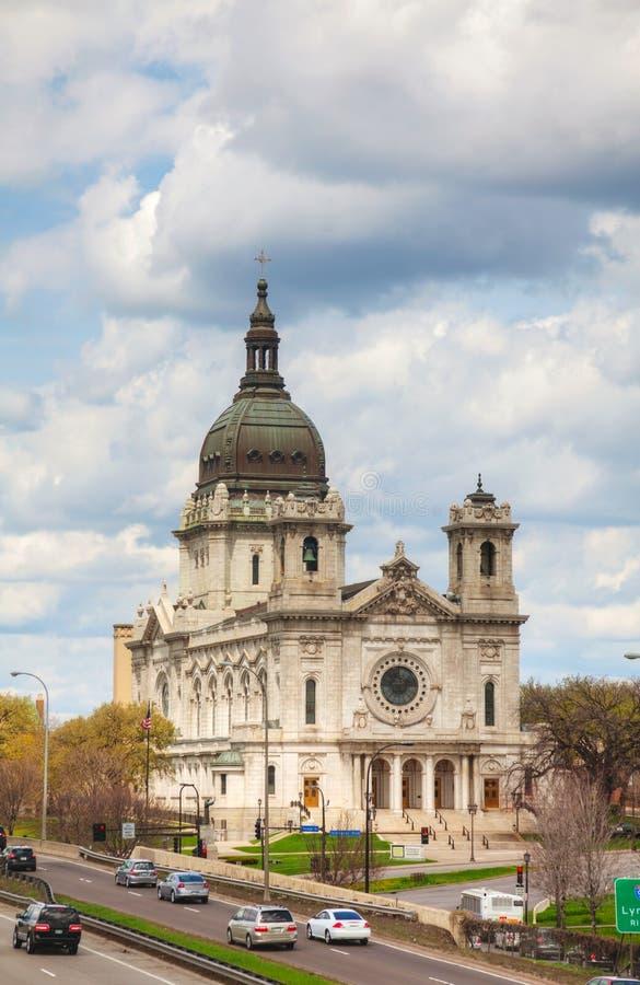 Basiliek van Heilige Mary in Minneapolis, Mn royalty-vrije stock foto's