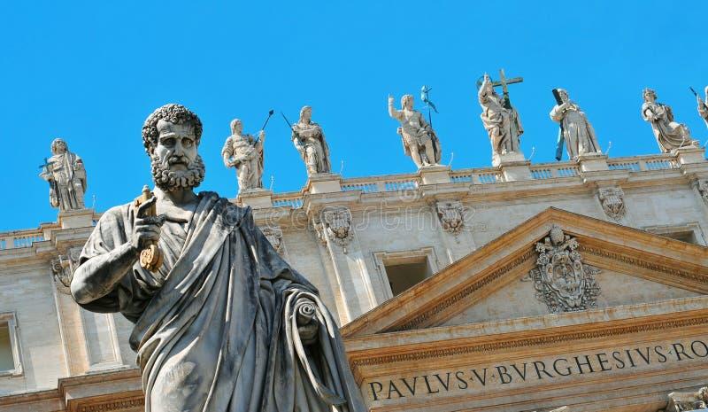 Basiliek van Heilige Peter in de Stad van Vatikaan, Italië stock foto