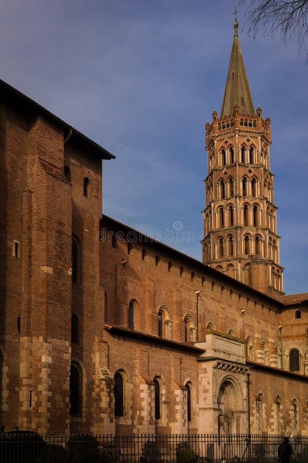 Basiliek van Heilige Sernin, Toulouse, Frankrijk stock foto