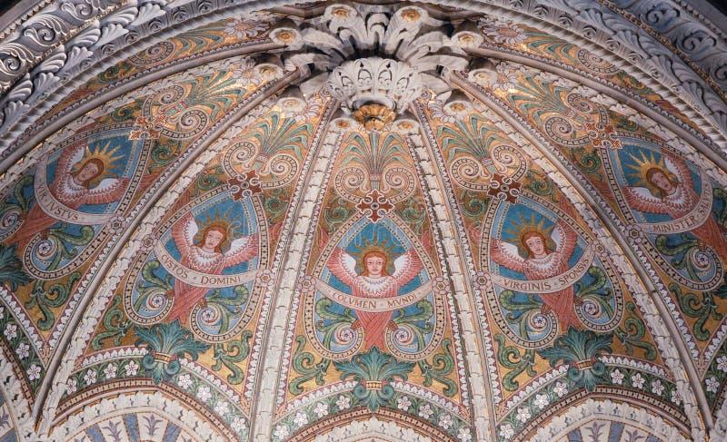 Basiliek van Lyon beneden royalty-vrije stock fotografie