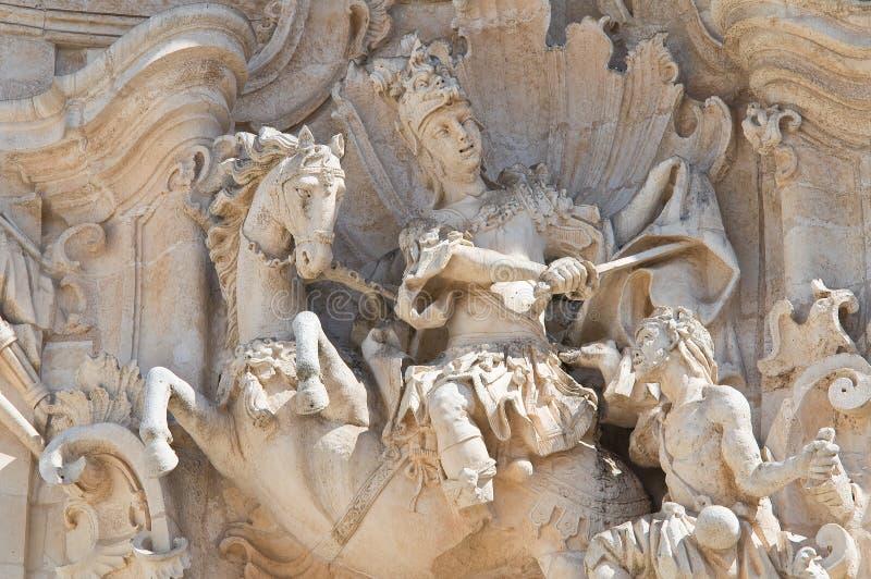 Basiliek van Martina Franca. Puglia. Italië. stock afbeeldingen