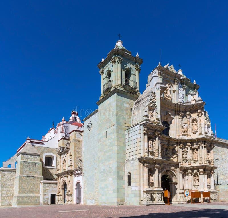 Basiliek van Onze Dame van Eenzaamheid in Oaxaca DE Juarez, Mexico stock foto