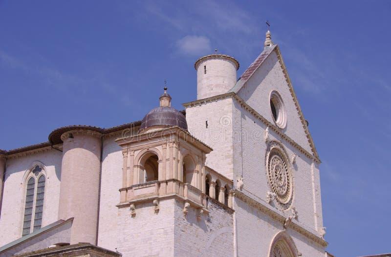 Basiliek van San Francesco in Assisi in Italië royalty-vrije stock afbeelding