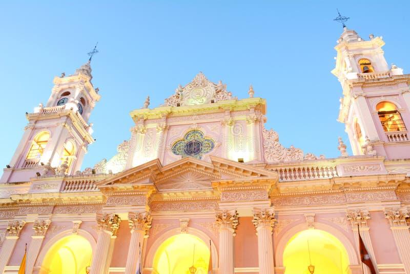 Basiliek van San Francisco in Salta-provincie royalty-vrije stock foto's