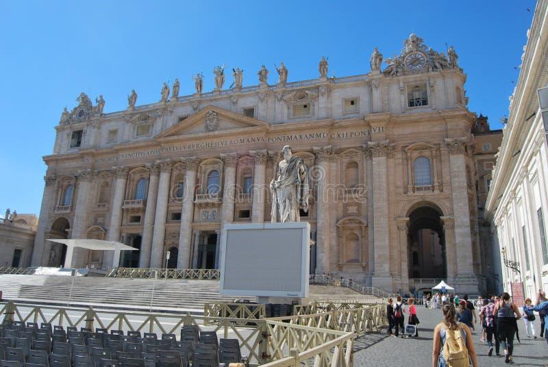 Basiliek van San Pietro in de stad van Vatikaan in Rome stock afbeelding