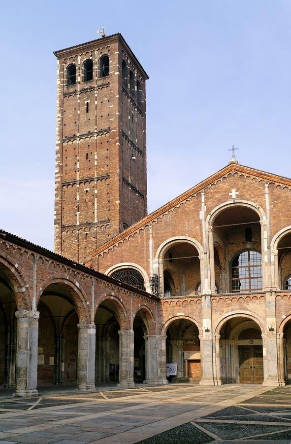 Basiliek van Sant'Ambrogio royalty-vrije stock foto's