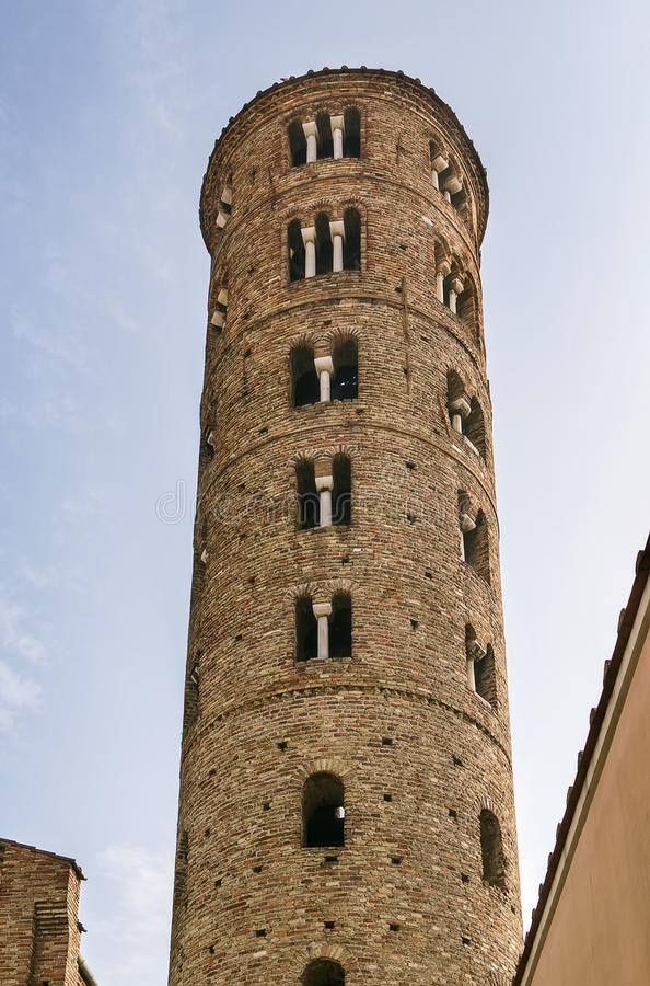 Basiliek van Sant Apollinare Nuovo, Ravenna Italië royalty-vrije stock foto's