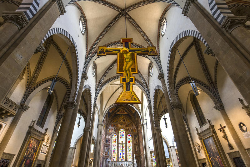 Basiliek van Santa Maria Novella, Florence, Italië royalty-vrije stock afbeeldingen