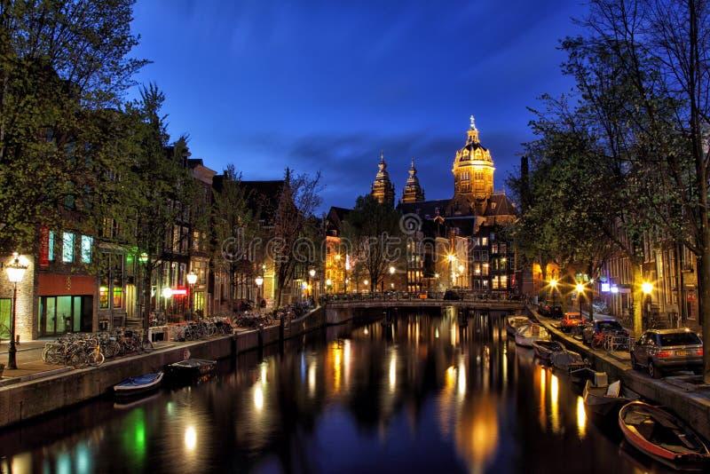 Basiliek van Sinterklaas, Amsterdam stock fotografie